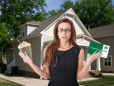 homeowner with Starbucks giftcard