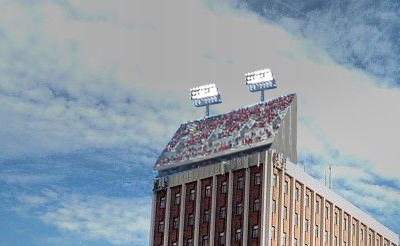 Memorial Stadium Adds Economy Seating On Top Of Oldfather Hall