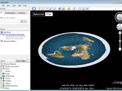 Flat Earth mode now available on Google Earth